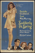 "Movie Posters:Comedy, Suddenly It's Spring (Paramount, 1946). One Sheet (27"" X 41"") Style A. Comedy.. ..."
