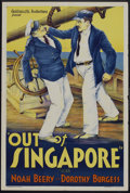"""Movie Posters:Crime, Out of Singapore (William Steiner, 1932). One Sheet (27"""" X 41"""").Crime.. ..."""