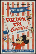 "Movie Posters:Animated, Election Day Gaieties (RKO, R-1953). One Sheet (27"" X 41"") Style A.Animated.. ..."
