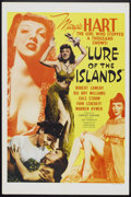 "Movie Posters:Adventure, Lure of the Islands (Monogram, 1942). One Sheet (27"" X 41"") StyleC. Adventure.. ..."