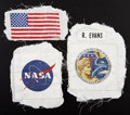 Explorers:Space Exploration, Apollo 17 Command Module Pilot Ron Evans' Command Module Flown Space Suit Patches (Four) Directly from his Personal Collection... (Total: 3 Items)