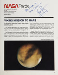 "Autographs:Celebrities, Neil Armstrong ""NASA Facts"" Booklet Signed...."