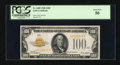 Small Size:Gold Certificates, Fr. 2405 $100 1928 Gold Certificate. PCGS About New 50.. ...