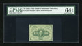 Fr. 1242 10c First Issue PMG Choice Uncirculated 64 EPQ