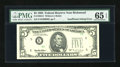 Error Notes:Inking Errors, Fr. 1985-E $5 1995 Federal Reserve Note. PMG Gem Uncirculated 65EPQ.. ...