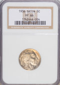 Proof Buffalo Nickels, 1936 5C Type One--Satin Finish PR66 NGC....