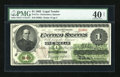 Large Size:Legal Tender Notes, Fr. 17a $1 1862 Legal Tender PMG Extremely Fine 40 Net....