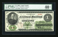 Fr. 17a $1 1862 Legal Tender PMG Extremely Fine 40 Net