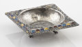 Silver Holloware, Continental:Holloware, A RUSSIAN SILVER PRESENTATION ASHTRAY. Maker unknown. Marks:1000. 1 x 3-1/2 x 3-1/2 inches (2.5 x 8.9 x 8.9 cm). 1.6ou...