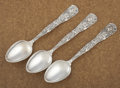 Silver & Vertu:Flatware, A SET OF THREE AMERICAN SILVER SERVING SPOONS. Tiffany & Co., New York, New York, circa 1872. Marks: TIFFANY & CO., STERLI... (Total: 3 Items)