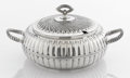 Silver & Vertu:Hollowware, AN AMERICAN SILVER PLATE COVERED TUREEN. Maker unknown, circa 1890. Marks: unmarked. 5-1/2 x 12 x 8-3/4 inches (14.0 x 30.5 ...
