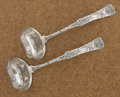 Silver & Vertu:Flatware, A PAIR OF AMERICAN SILVER OYSTER LADLES. Tiffany & Co., New York, New York, circa 1872. Marks: TIFFANY & CO., STERLING, M... (Total: 2 Items)