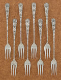 Silver Flatware, American:Shiebler, A SET OF EIGHT AMERICAN SILVER HORS D'OEUVRES FORKS. GeorgeW. Shiebler & Co., New York, New York, circa 1890. ... (Total:8 Items)