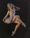 Pin-up and Glamour Art, ZOE MOZERT (American 1904 - 1993). Ballerina. Pastel onpaper. 27 x 21 in.. Signed lower left. ...