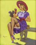 Pin-up and Glamour Art, GIL ELVGREN (American 1914 - 1980). Making Friends, 1951.Oil on canvas. 30 x 24 in.. Signed lower left. ...