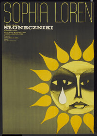 "Sunflower (CWF, 1972). Polish One Sheet (22.75"" X 32.75""). Drama"