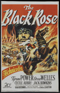 "Movie Posters:Adventure, The Black Rose (20th Century Fox, 1950). One Sheet (27"" X 41"")Flat-Folded. Adventure.. ..."