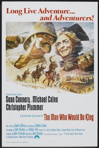 """The Man Who Would Be King (Columbia, 1975). One Sheet (27"""" X 41"""") Flat-Folded. Adventure"""