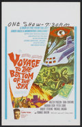 "Movie Posters:Adventure, Voyage to the Bottom of the Sea (20th Century Fox, 1961). WindowCard (14"" X 22""). Adventure.. ..."