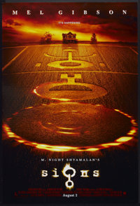 """Signs Lot (Touchstone, 2002). One Sheets (2) (27"""" X 40"""") DS Advance. Science Fiction. ... (Total: 2 Items)"""