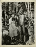 """Judy Garland and Jack Haley in """"The Wizard of Oz"""" (MGM, 1939). Still (8"""" X 10"""")"""
