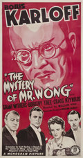 "Movie Posters:Mystery, The Mystery of Mr. Wong (Monogram, 1939). Three Sheet (41"" X 81"").. ..."