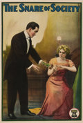 "Movie Posters:Drama, Snare of Society (Lubin, 1911). One Sheet (27"" X 40.5"").. ..."