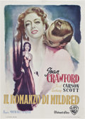 "Movie Posters:Film Noir, Mildred Pierce (Warner Brothers, 1948). Italian 2 - Folio, FirstPost-War Release (39"" X 55"").. ..."