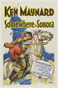 "Movie Posters:Western, Somewhere in Sonora (First National, 1927). One Sheet (27"" X 41"")Style A.. ..."