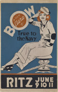 """Movie Posters:Comedy, True to the Navy (Paramount, 1930). Locally Produced Window Card(14"""" X 22"""").. ..."""