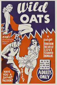 "Wild Oats (Mack, 1940). One Sheet (28"" X 42"")"