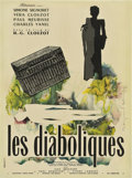 "Movie Posters:Mystery, Les Diaboliques (Cinedis, 1955). French Affiche Moyenne (23.5"" X31.5"").. ..."