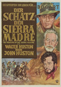 "Movie Posters:Drama, The Treasure of the Sierra Madre (Warner Brothers, 1948). German A1(23"" X 33"").. ..."