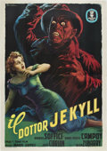 "Movie Posters:Horror, The Strange Case of the Man and the Beast (Azteca Films, 1951).Italian 4 - Folio (55"" X 78"").. ..."