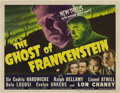 "Movie Posters:Horror, The Ghost of Frankenstein (Universal, 1942). Title Lobby Card (11""X 14"").. ..."