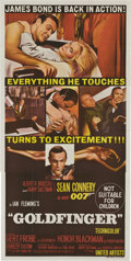 "Movie Posters:James Bond, Goldfinger (United Artists, 1964). Australian Three Sheet (40"" X80"").. ..."