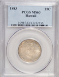 Coins of Hawaii: , 1883 25C Hawaii Quarter MS63 PCGS. PCGS Population (253/542). NGC Census: (133/369). Mintage: 500,000. (#10987)...