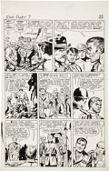 Original Comic Art:Panel Pages, Jack Kirby and George Roussos Sgt. Fury #7, page 21 OriginalArt (Marvel, 1964)....