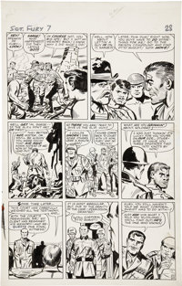 Jack Kirby and George Roussos Sgt. Fury #7, page 21 Original Art (Marvel, 1964)