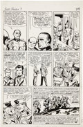 Original Comic Art:Panel Pages, Jack Kirby and George Roussos Sgt. Fury #7, page 22 OriginalArt (Marvel, 1964)....