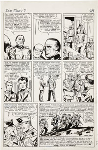 Jack Kirby and George Roussos Sgt. Fury #7, page 22 Original Art (Marvel, 1964)