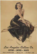 Memorabilia:Poster, Rolf Armstrong Inviting Vintage Advertising Pinup Poster(undated)....