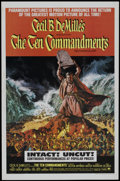 "Movie Posters:Historical Drama, The Ten Commandments (Paramount, R-1966). One Sheet (27"" X 41"") andLobby Card Set of 8 (11"" X 14""). Historical Drama.. ... (Total: 9Items)"