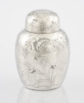 Silver Holloware, American:Tea Caddies, AN AMERICAN SILVER TEA CADDY. J.B. & S.M. Knowles, Providence,Rhode Island, circa 1875. Marks: (K with lion rampant),STE...