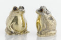 Silver Holloware, American:Other , A PAIR OF AMERICAN SILVER GILT AND GLASS SALT AND PEPPER SHAKERS.Cartier, New York, New York, circa 1960. Marks: Cartier,...(Total: 2 Items)
