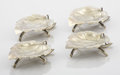 Silver Holloware, American:Other , A SET OF FOUR AMERICAN SILVER GILT BUTTER DISHES . George W.Shiebler & Co., New York, New York, circa 1880. Marks: (winged... (Total: 4 Items)