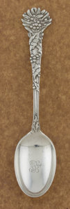 Silver Flatware, American:Tiffany, AN AMERICAN SILVER TEASPOON. Tiffany & Co., New York, New York,circa 1895. Marks: TIFFANY & CO., STERLING, M. 6-1/8inc...