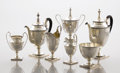 Silver Holloware, American:Tea Sets, AN AMERICAN SILVER SEVEN-PIECE TEA SET. Shreve, Crump & Low,Boston, Massachusetts, circa 1870. Marks: SHREVE, CRUMP &LOW... (Total: 7 Items)