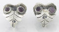Silver Smalls, A PAIR OF MEXICAN SILVER AND AMETHYST QUARTZ EARRINGS. Fred Davis,Mexico City, Mexico, circa 1930. Marks: FD, SILVER, MEX...