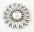 Silver Smalls:Other , A MEXICAN SILVER PIN. Héctor Aguilar, circa 1950. Marks: HA,.940, TAXCO MEXICO, (eagle 9). 2 inches diameter (5.1 cm). ...